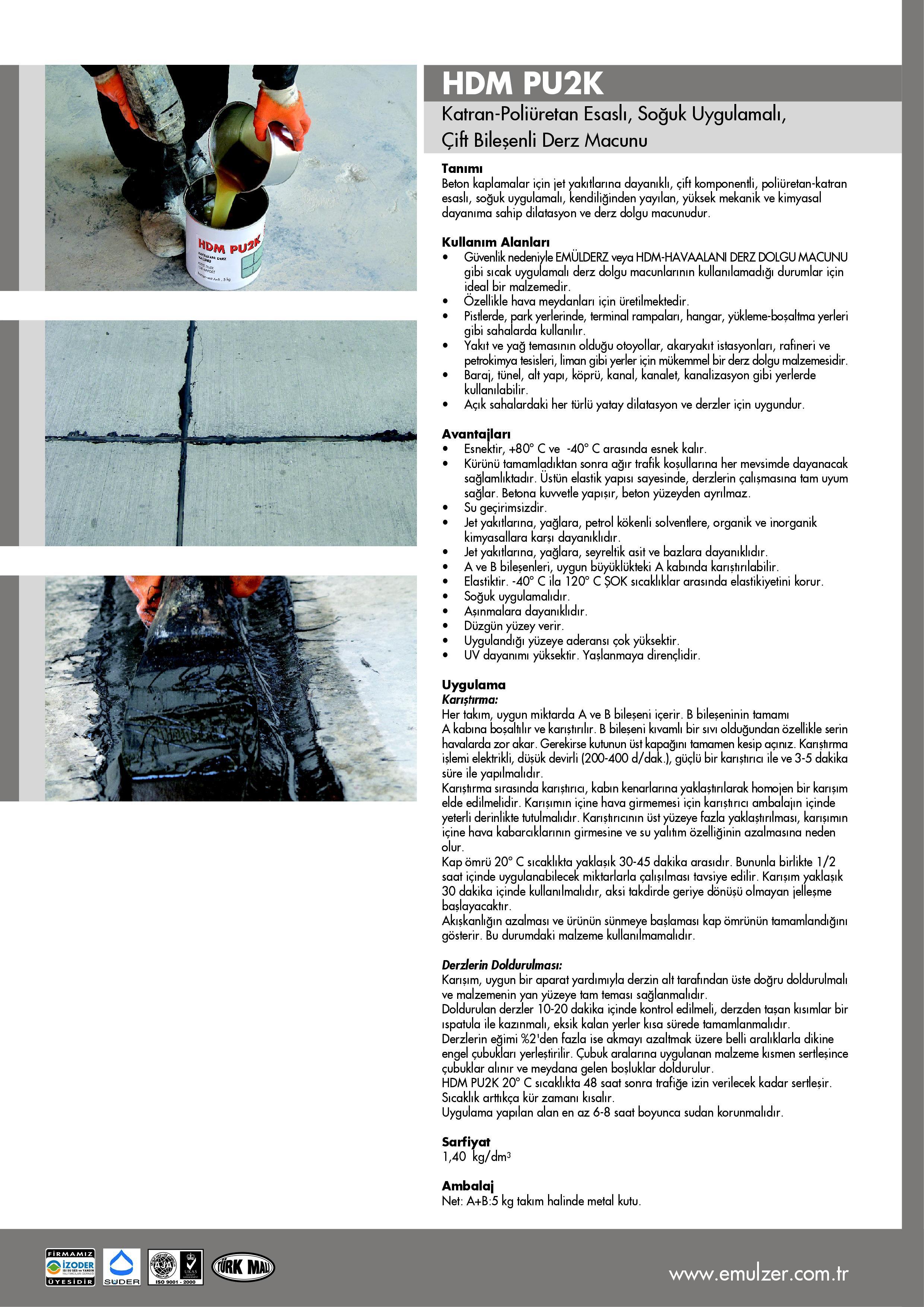 Hdm Pu2k Coal Tar Modified Two Component Polyurethane